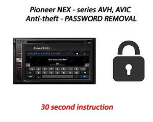 Details about Password Removal For Pioneer  AVIC-5000NEX/6000NEX/7000NEX/8000NEX