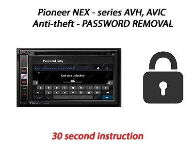 Password Removal For Pioneer AVH-4000NEX//4100NEX//4200NEX