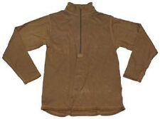 US Level II Army Long Sleeve Cold Weather Grid Fleece Hemd USMC coyote Small