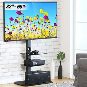 Corner Tv Stand With Shelves 32 65 Inch Flat Screen Swivel Tv