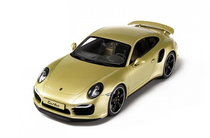 1 18 GT Spirit PORSCHE 911 (991) TURBO EXCLUSIVE (Lime gold) Limited to 991 pcs.