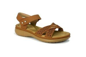WOMEN-039-S-LADIES-LOW-WEDGE-HEEL-SANDAL-WITH-ANKLE-SUPPORT-AND-CROSSOVER-STRAP