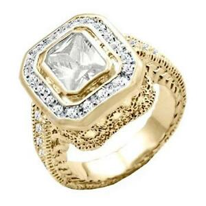 18K-GOLD-EP-4-95CT-DIAMOND-SIMULATED-COCKTAIL-RING-size-6-10-you-choose