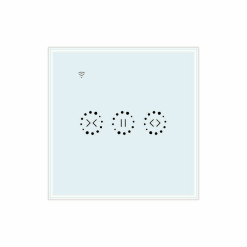 3 Gang Smart Home WiFi Touch Curtain Wall Switch Panel For Echo Google Home
