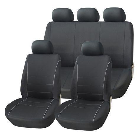 Hyundai IX20 todos los años Negro Fundas De Asiento con gris Tubería