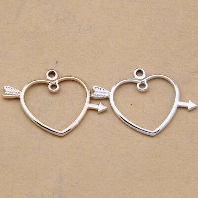 Charm Heart Arrow Pendant Accessories DIY Earring Necklace Making //1141