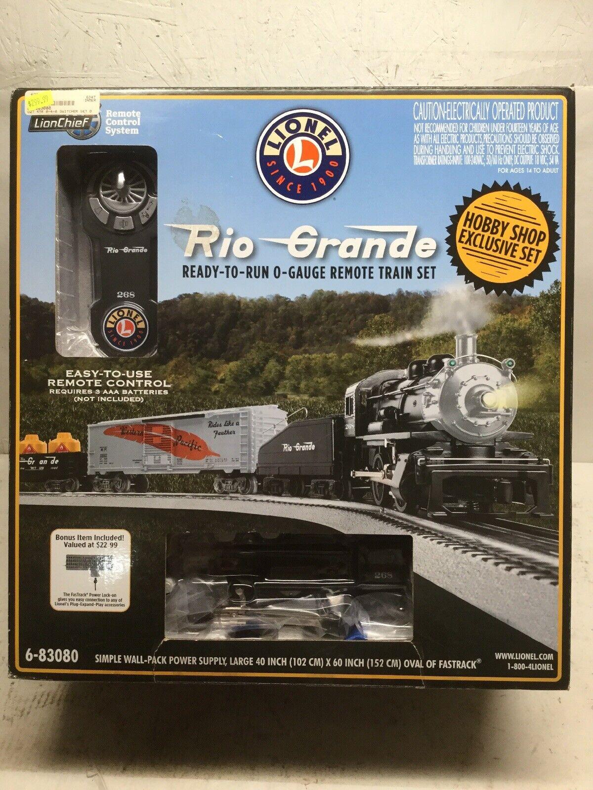 gran descuento Lionel 6-83080 Rio Grande Listo Para Correr O-calibre Remoto Train Train Train Set Exclusivo Set  100% autentico