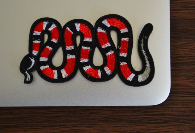 Gucci Style Snake Iron On Applique/Embroidered Patch Fabric Craft Sew Lot