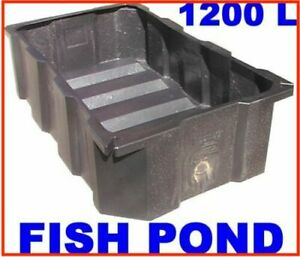 LARGE-KOI-CARP-FISH-POND-1200-LITRE-BLACK-POLY-FEATURE-TANK-2-Mtr-x1-2-x0-5-DEEP