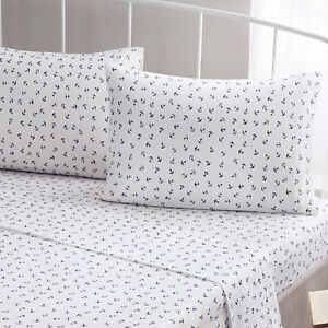 Brielle-Fashion-100-Cotton-Jersey-Anchor-Design-Bed-Linen-Collection-NEW