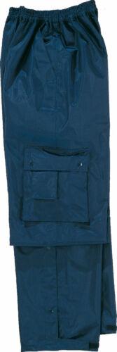 Delta Plus Panoply Typhoon Blue Waterproof Outdoor Rain Cargo Trousers Pants