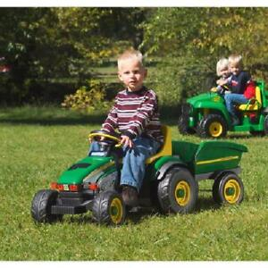 John Deere Ride On Toys >> Details About Kids Ride On Toy John Deere Farm Tractor And Trailer Pedal Outdoor Riding Toys