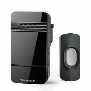 Wireless-Cordless-Plug-in-Through-DoorBell-Door-Bell-Loud-Chime-LED-Flash-Wifi