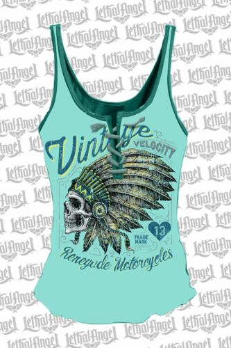 lacets chemise avec Lethal Motorcycle Renegade Head à Angel Indian zHxY8qnBw