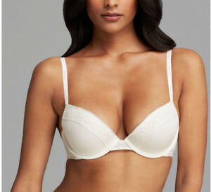 63a1819585a6b Calvin Klein MODERN SIGNATURE Flirty Push Up Bra F3777 in Ivory ...
