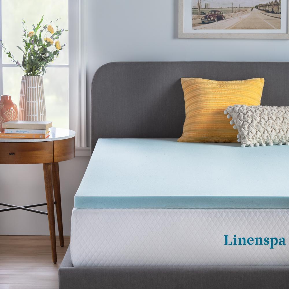 2 in. Gel Memory Foam Topper For Home Bedroom Bedding Mattress California King