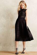 ZIMMERMANN Midnight Romance Trinity Broderie Midi Black Dress 0 XS anthropologie