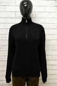 Magione-Donna-CALVIN-KLEIN-Taglia-Size-L-Felpa-Pullover-Sweater-Woman-Lana-Nero