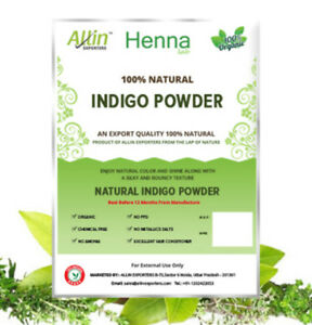 INDIGO-POWDER-100-ORGANIC-AND-NATURAL-Indigofera-Tinctoria-Hair-Powder-60g