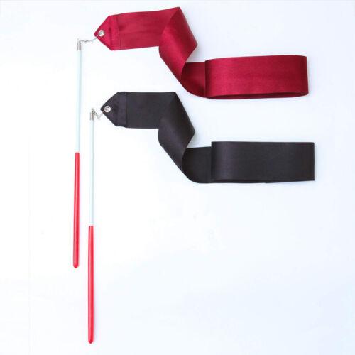 20PCS 2M Kids Dance Ribbon Rhythmic Art Gymnastic Ballet Streamer Twirling Rod