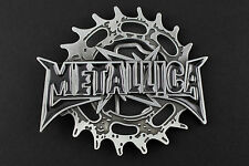 METALLICA BELT BUCKLE AMERICAN HEAVY METAL SNAP ON