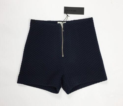Shorts Nuovo W26 Blu Pantalone T3886 Tg Vita Antony Felpa American Retro Alta 40 ZXx5awqYSn