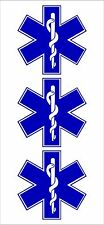 Star of Life medical EMS EMT paramedic medics Helmet Hard Hat stickers HS-1032
