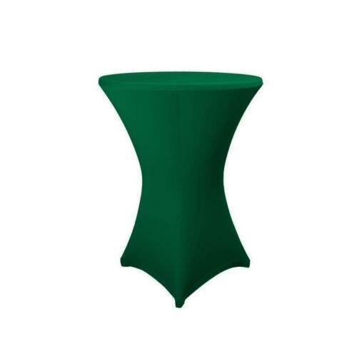 Housse Vert Foncé 80 cm stretch original Expand ® table haute table de bistrot