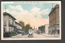 1928 post card Montauk Highway looking east Bayshore NY/Glenbrook CT -So Berlin