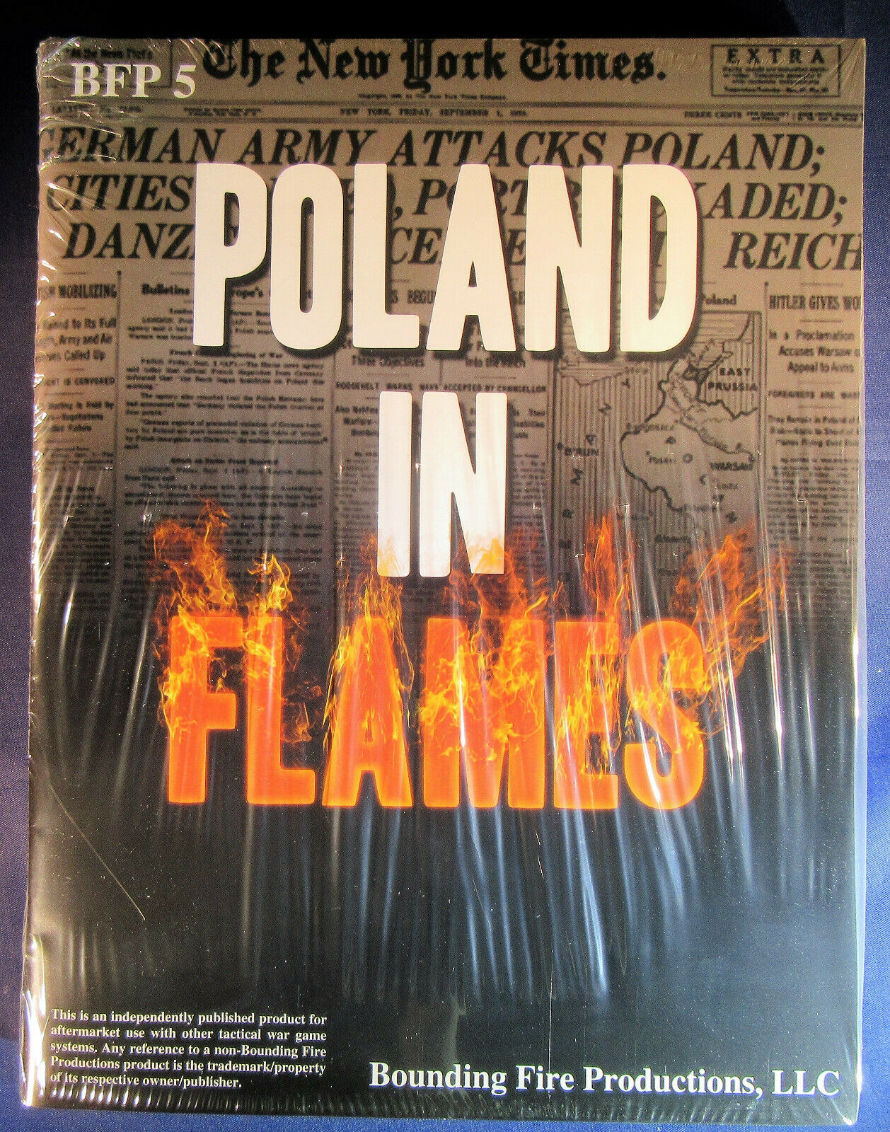 Poland in Flames   ASL   Bounding Fire Productions   shrinkwrapped  OOP