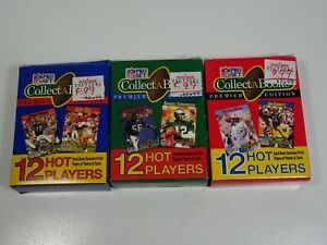 NFL-Pro-Set-CollectABooks-Box-1990-Series-1-2-and-3-Gridiron-Trading-Cards
