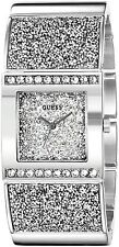 GUESS Women's U0650L1 Sparkling Silver-Tone Watch with Self-Adjustable Bracelet