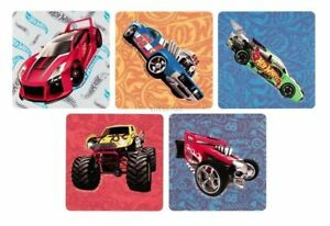 20 Team Hot Wheels Shaped Stickers Party Favor Teacher Supply Motor Racers
