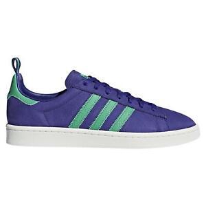 Adidas-Originals-Hommes-Campus-Baskets-Violet-Baskets-Chaussures-Retro-Deadstock-NEUF