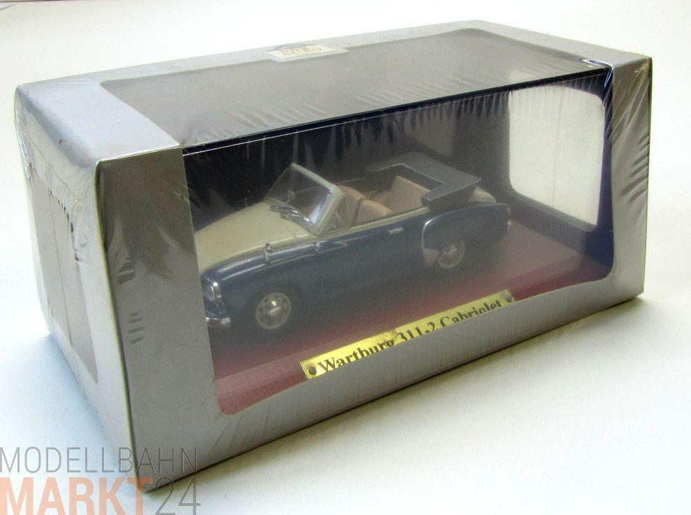 DDR auto colección Wartburg 311-2 cabriolet modelo modelo modelo en escala 1 43 - Embalaje original 263d77