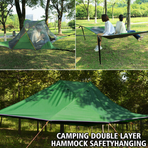 Hanging Tree House tente Quadrangle Suspension double couche Hamac Camping