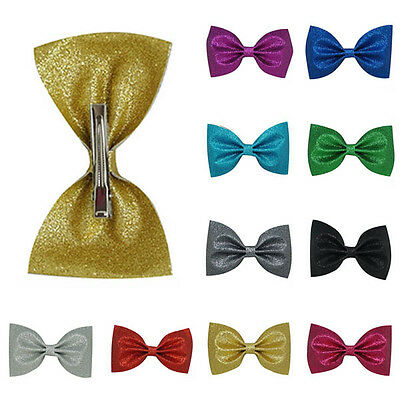 Sweet Baby Kids Toddler Infant Newborn Girls Shiny Bow Hairpin Hair Clips