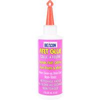 Beacon Felt Glue - Bonding Felt Glitter Pom-poms & More 4 Oz Non Toxic