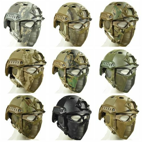 AIRSOFT TACTICAL LIGHTWEIGHT ABS FAST HELMET CAMOUFLAGE FOR CS MILITARY WARGAME
