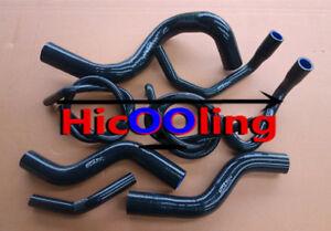 For-HOLDEN-COMMODORE-VZ-3-6L-V6-2004-2006-silicone-radiator-heater-hose-Black