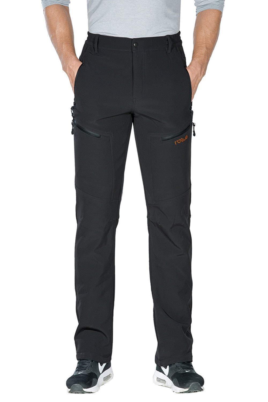 Nonwe Men's Warm Windproof Mountain  Fleece Hiking Snow Ski Pants 40 X 34  low-key luxury connotation