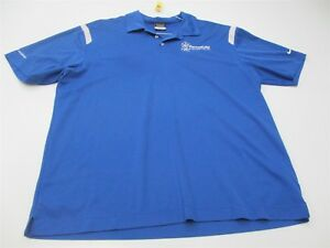NIKE-GOLF-Men-039-s-Size-XL-Athletic-DRI-FIT-Breathable-Blue-Polo-T-shirt-TY3108
