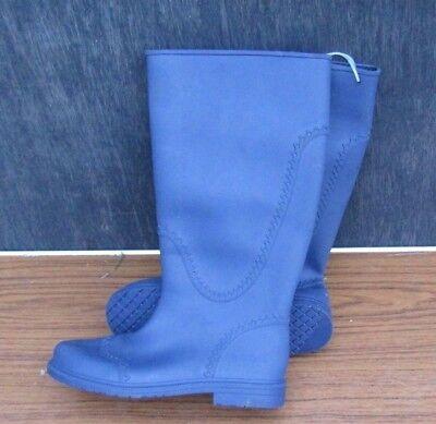 Italiano Wellington Botas de lluvia con detalle encantadora Size UK 4 Rojo o Azul EU37 nos