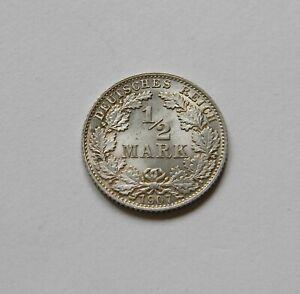 Imperio: 1/2 Marco 1907D, J. 16 ,Fast sin Circulación III