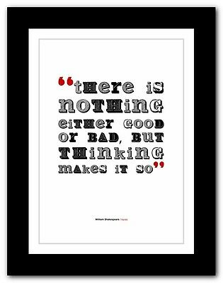 Shakespeare Inspirational Hamlet Quote Poster Posters Print Prints Gift Gifts
