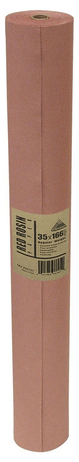 """Trimaco 35167 35/"""" X 166/' Easy Mask Red Rosin Paper"""