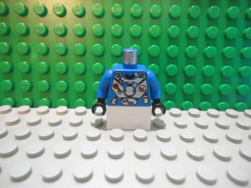 Lego mini figure 1 Blue robot upper torso body