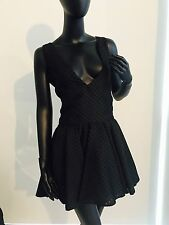 Giambattista Valli Black Cocktail Dress W Cleavage Sz44 $1750