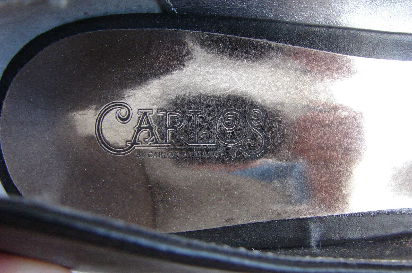 Carlos Santana Cuero Negro en Punta Punta Punta Zapatillas 9 Nuevo sin Etiqueta 8ff548
