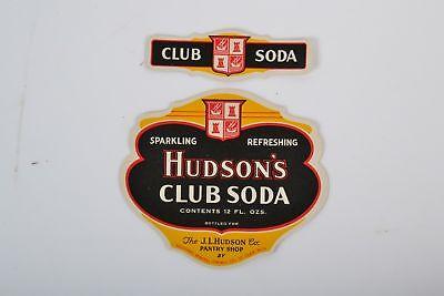 St Vintage *UNUSED* Hudson/'s Ginger Ale bottled by Salutaris Mineral Springs Co